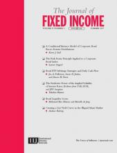 The Journal of Fixed Income: 27 (1)