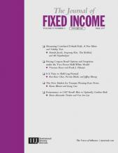 The Journal of Fixed Income: 27 (2)