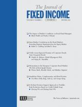 The Journal of Fixed Income: 27 (3)