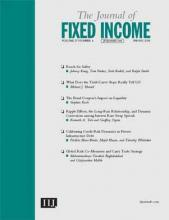 The Journal of Fixed Income: 27 (4)