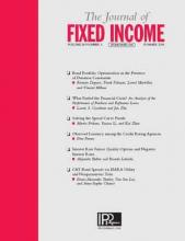 The Journal of Fixed Income: 28 (1)