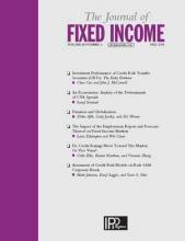 The Journal of Fixed Income: 28 (2)